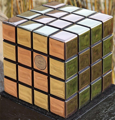 The Morphing Cube, 75mm Puzzle Cube in Brass & Copper by GarE Maxton