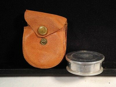 """FIELD Collapsible Drinking Cup/Aluminum in Pigskin Pack/""""Howard's/Army Issue???"""