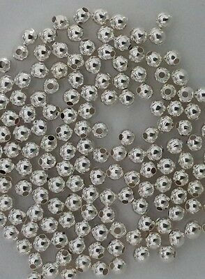 2.5mm, 3mm, 4mm, 6mm, 8mm Steel Beads Silver Finish
