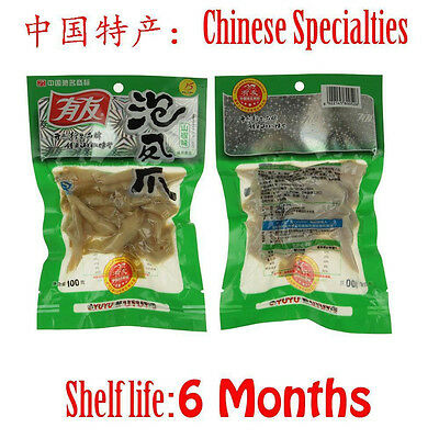 5 pcs X 100g chinese food chicken feet with Pickled Peppers Vacuum-packed