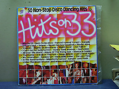 hits on 33- lp compilation- 50 non stop disco dancing hits