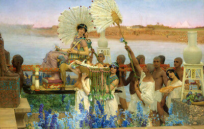 Oil painting Lawrence Alma-Tadema - The Finding of Moses -  nice young princess