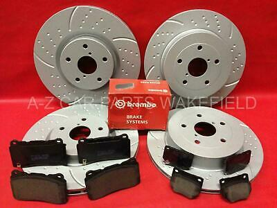 For Subaru impreza 2.0 turbo wrx sti grooved front rear brake discs Brembo pads