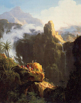 Oil painting Thomas cole - Landscape Composition Saint John in the Wilderness