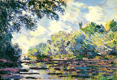 Oil painting Claude Monet - Section of the Seine, near Giverny impressionism