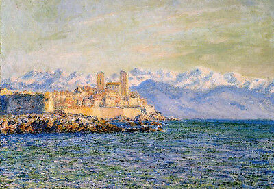 Oil painting Claude Monet - Old Fort at Antibes impressionism landscape canvas