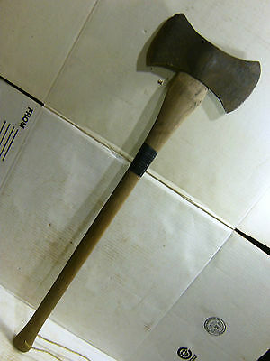 Old Sager Warren Axe & Tool Co Double Bit-California Reversible Pattern-Patina