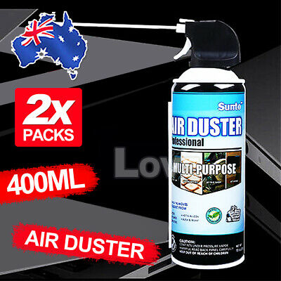 2 x 400ml Compressed Air Duster Cleaner Can Canned Laptop Keyboard Mouse Phones
