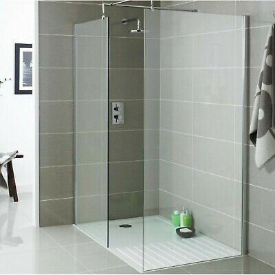 Walk In Shower Panel 8mm toughened  Glass Screen Enclosure Wet Room