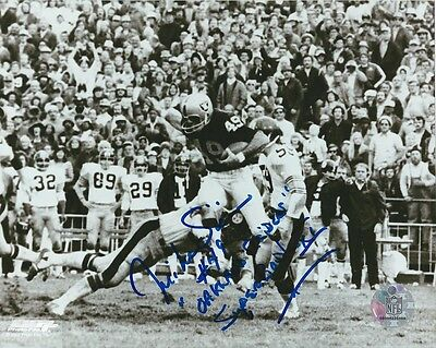 Mike Siani Oakland Raiders autographed signed 8x10 glossy photo with inscription
