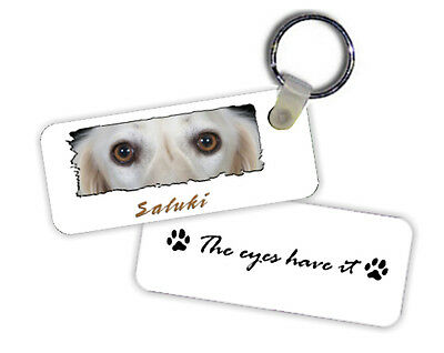Saluki   The  Eyes Have It   Key  Chain