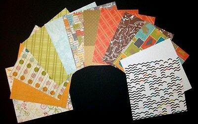 """AMERICAN CRAFTS PAPER PACK 3 for Scrapbooking/Cardmaking  15cm x 15cm (6"""" x 6"""")"""