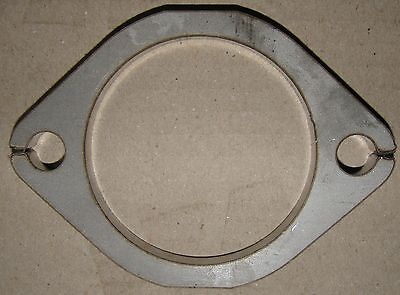 """Stainless Steel - 3"""" Inch (76mm) 2-Bolt Exhaust Flange Plate 8mm Thick"""