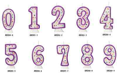 INDIVIDUAL NUMBER BIRTHDAY CAKE CANDLES *same day post