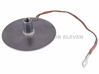Strengthening Disc with earth strap for antenna mounts - 88mm / 3.5 inch STRONG!