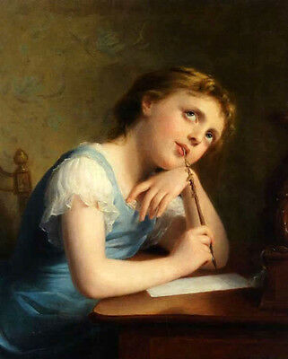 Image result for girl writing painting