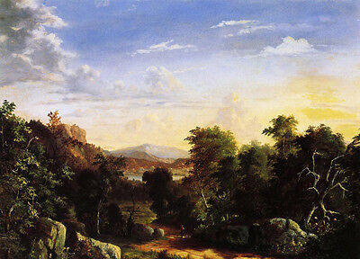Oil painting Albert Fitch Bellows - Landscape A. T. Oakes - Croton, New York