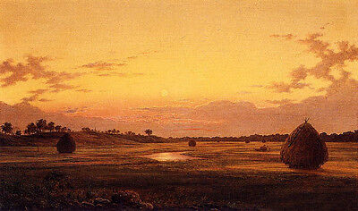 Oil painting Albert Fitch Bellows - At Dawn Plain Landscape no framed canvas