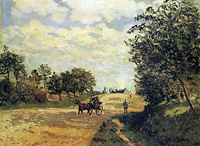 No framed Oil painting Alfred Sisley - The Road from Mantes to Choisy-le-Roi