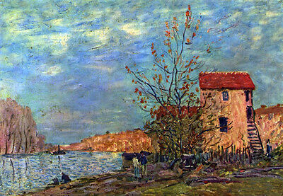 Fine art Oil painting Alfred Sisley The Loing bei Moret impressionism landscape