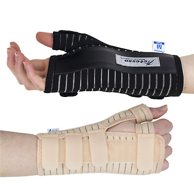 Breathable Carpel Tunnel Wrist Support Splint Brace for Injury Pain - Right Left