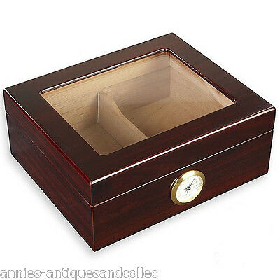 GLASSTOP HUMIDOR holds 50 **NEW**  Plus Xtra Items ->->-> LQQK !