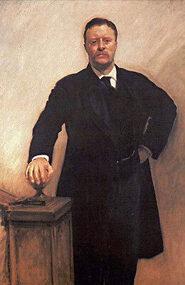 """Beautiful Oil painting Male portrait America President Theodore Roosevelt 36"""""""