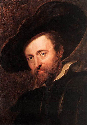 Art Oil painting Peter Paul Rubens - Artist Self-portrait with hat on canvas