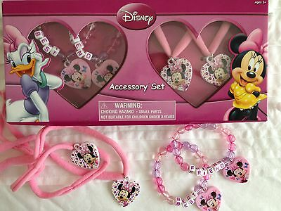 Minnie Mouse 2 Bracelet/necklace Accessory Set Disney Birthday Party Lolly  Loot