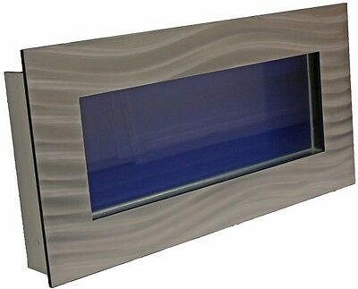 Silver Large Panoramic Wall Mounted Fish Tank And