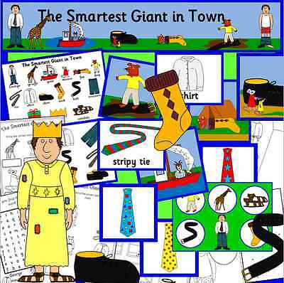 THE SMARTEST GIANT IN TOWN - teaching story resources TO PRINT - EYFS, KS1