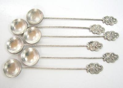 Antique Rare Ottoman Turkish Constantinople Silver Coin Spoons 6 Pcs Tughra