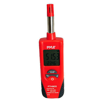 Pyle PTHM20 Temperature and Humidity Meter With Dew Point and Wet Bulb Temperatu