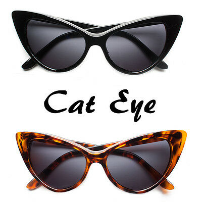 New Hot Women's Classic Cat Eye Designer Fashion Shades Black Frame Sunglasses k