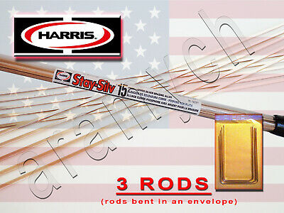 3 RODS Sil-Fos 15 BCuP-5 15% Silver Soldering Rods LucasMilhaupt Brazing Rods