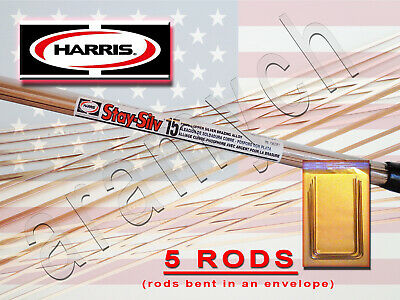 5 RODS Sil-Fos 15 BCuP-5 15% Silver Soldering Rods LucasMilhaupt Brazing Rods