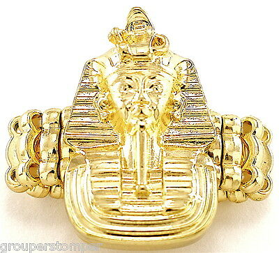 Pharaoh Ring New With Stretch Band King Tut Ancient Egyptian Medusa Style