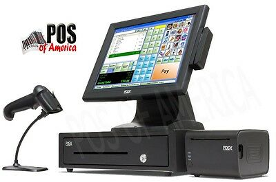 Corner Store POS Retail All-in-one Station Complete Point of Sales System NEW