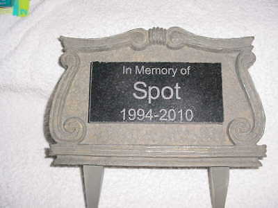 Outdoor Personalized Pet Monument Memorial For The Yard