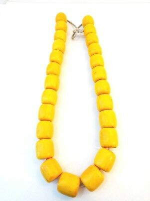 Large Vtg African Similated Amber /Ambar necklace trade beads