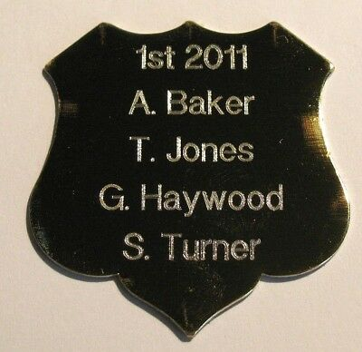 Engraved Gold Shield (5 Sizes to Choose From)