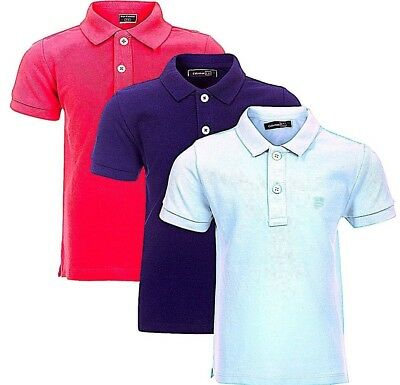 Baby Polo T.Shirts, Pique Cotton Casual Short Sleeves T.Shirt Top,3 mths to 3yrs