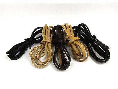 1M or 2M x High Quality GENUINE LEATHER FLAT String CORD Thong ~3mm/ 5mm/ 10mm~