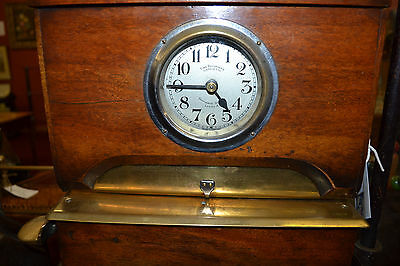 Early 20th century time recording clock by Leeds Ltd,c 1930, with original keys