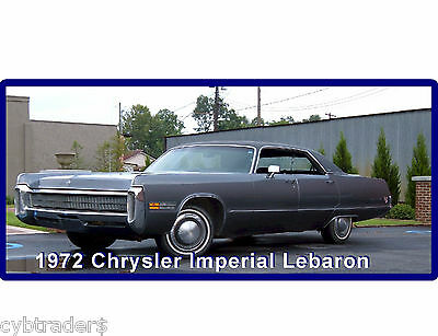 1972 Chrysler Imperial Lebaron 4Door  Auto Refrigerator / Tool Box  Magnet