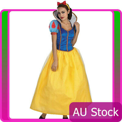 Ladies Princess Snow White Fairy Tale Fancy Dress Halloween Party Costume