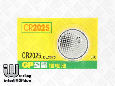 2 Pieces New GP CR2025 CR 2025 DL2025 Computer Coin Cell Battery Batteries 3V