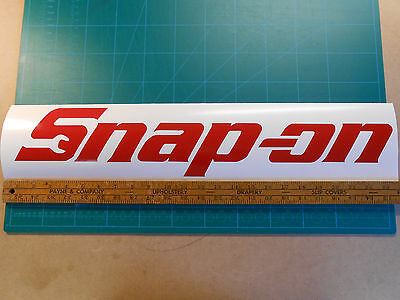 "Large Snap on Logo Decal Sticker 15"" 18"" 20.5"" 23.5"" Wide Tool Box Mechanic ASE"