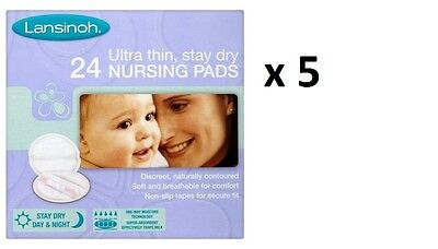 Lansinoh Disposable Nursing Pads x 120 (5 boxes of 24)  - Great Price