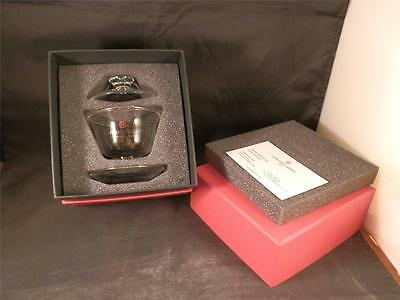 Genting Casinos Uk Fine Glass Oriental Cup & Saucer With Lid Dragon Design